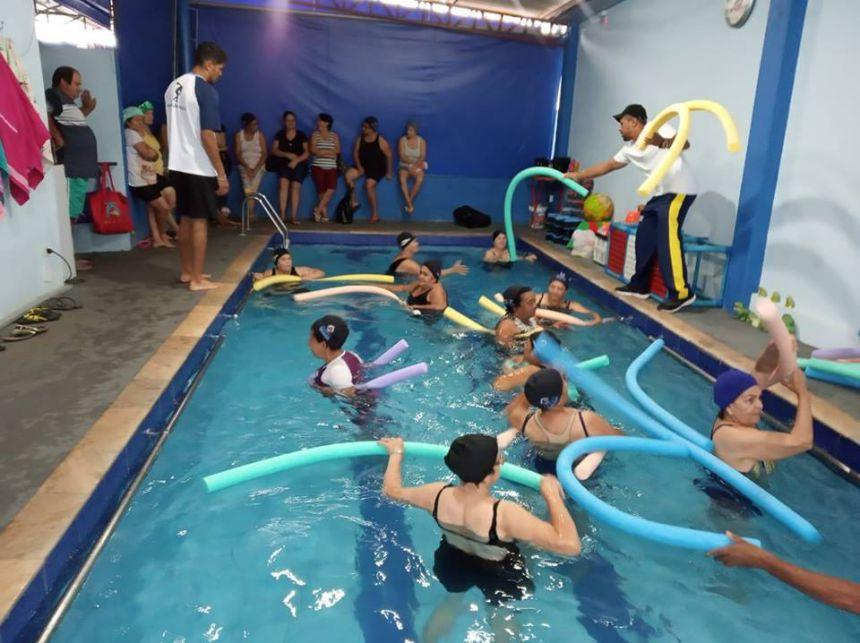 Prefeitura contrata Piscina Térmica para a Prática de Aulas de Hidroginástica
