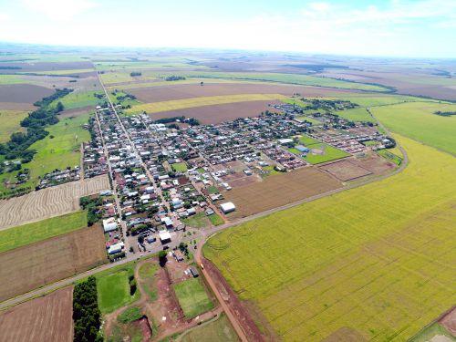 Foto aérea do Município