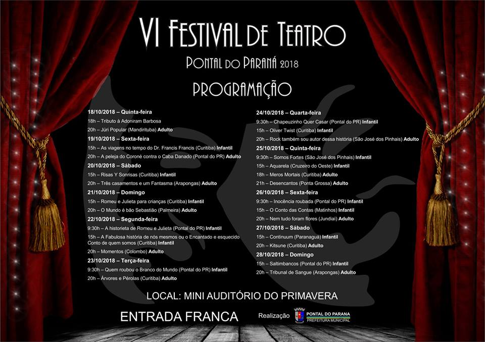 VI Festival de Teatro de Pontal do Paraná