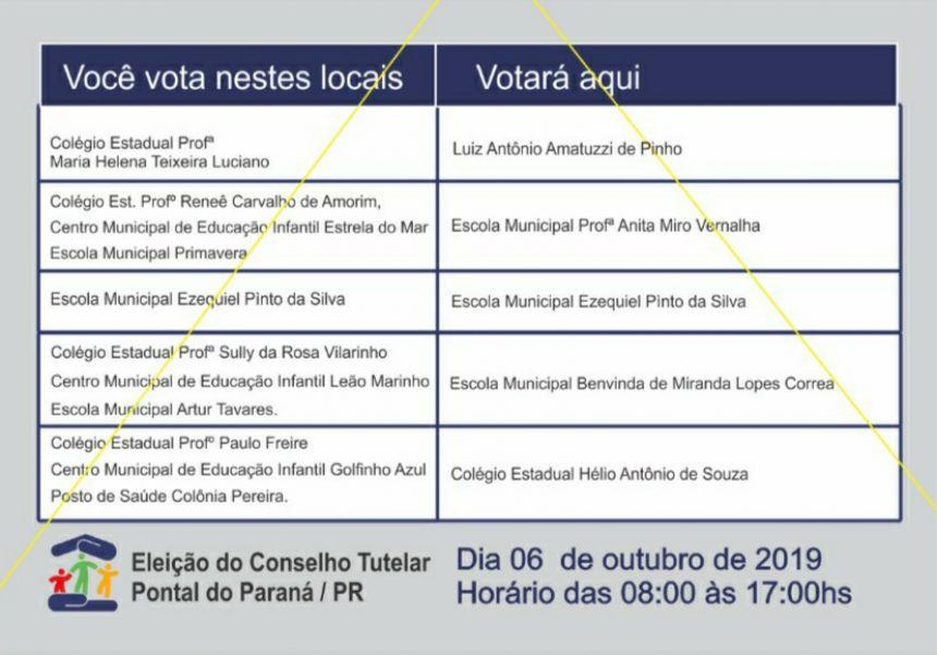 Eleição para Conselheiros Tutelares será neste domingo em Pontal do Paraná