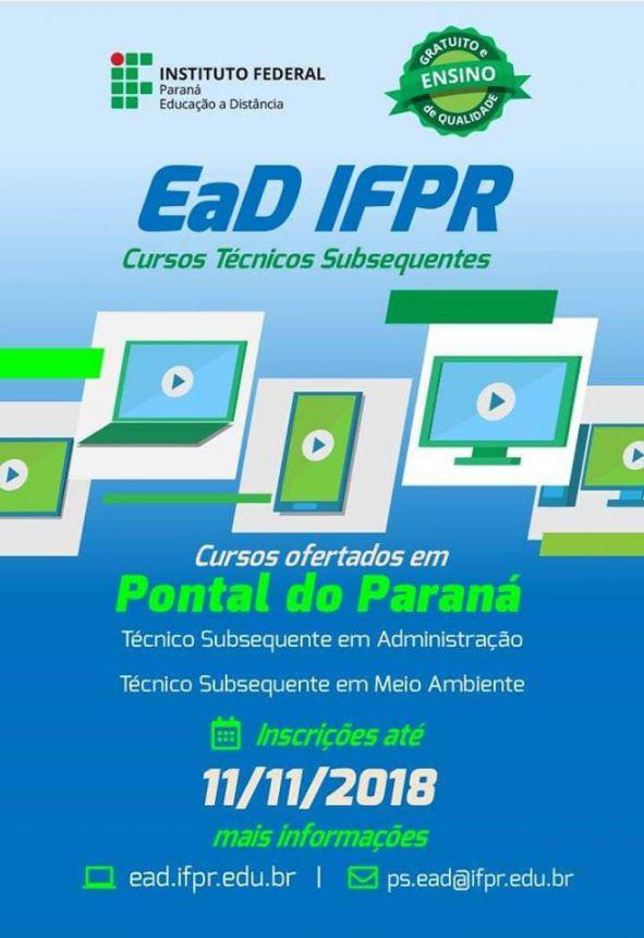 IFPR oferece cursos nas áreas de administração e meio ambiente