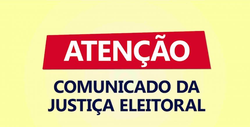 Comunicado - Justiça Eleitoral - Horários de Ônibus Gratuitos