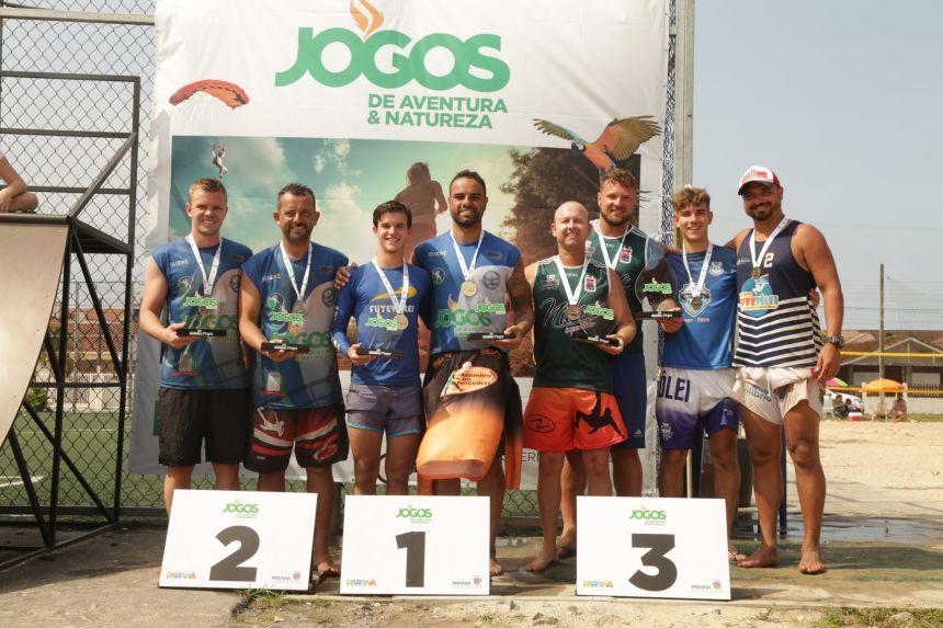 Pontal do Paraná recebe IV etapa dos Jogos de Aventura e Natureza e V do Paranaense de Futevôlei