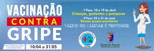 Pontal do Paraná realizará Campanha de Vacinação contra a Gripe