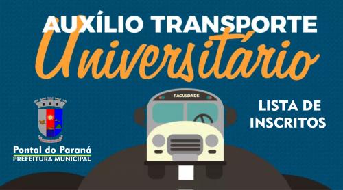 Programa Auxílio Transporte: Lista dos Inscritos