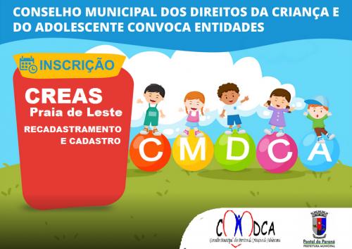 CMDCA - Cadastro e Recadastramento de instituições