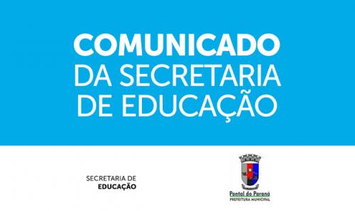 Comunicado da Secretaria de Educação - Reposição de Aulas