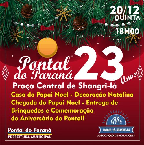 Pontal do Paraná, 23 anos, um Natal de Luz!