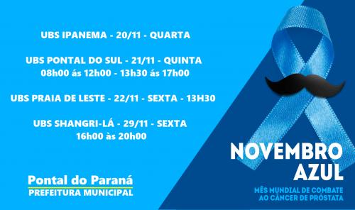 Novembro Azul: Pontal do Paraná realizará atividades para os homens