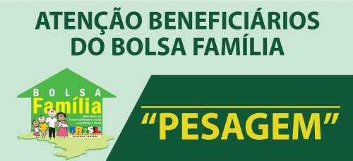 Segunda Vigência de pesagem do Bolsa Família já se encontra disponíveis para os beneficiários
