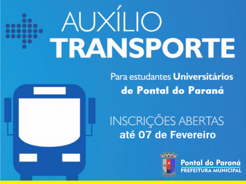 Edital do Auxílio Transporte Universitário de Pontal do Paraná já está disponível