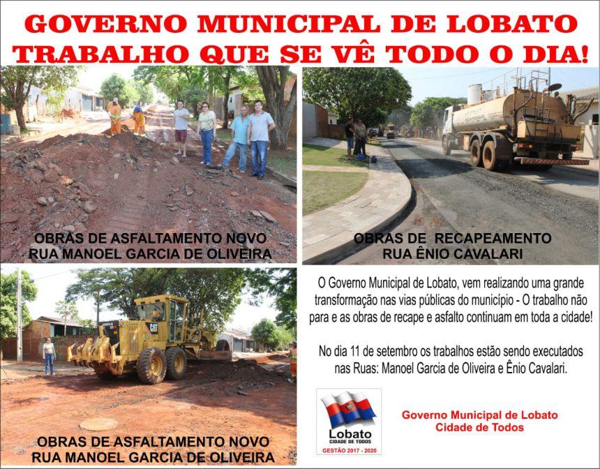 GOVERNO MUNICIPAL DE LOBATO TRABALHO QUE SE VÊ TODO DIA