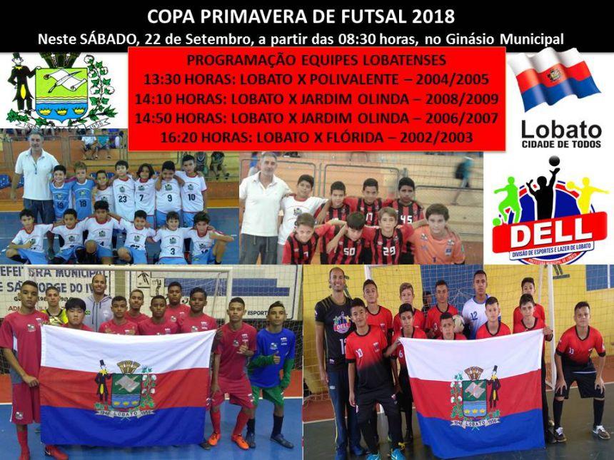 COPA PRIMAVERA DE FUTSAL 2018