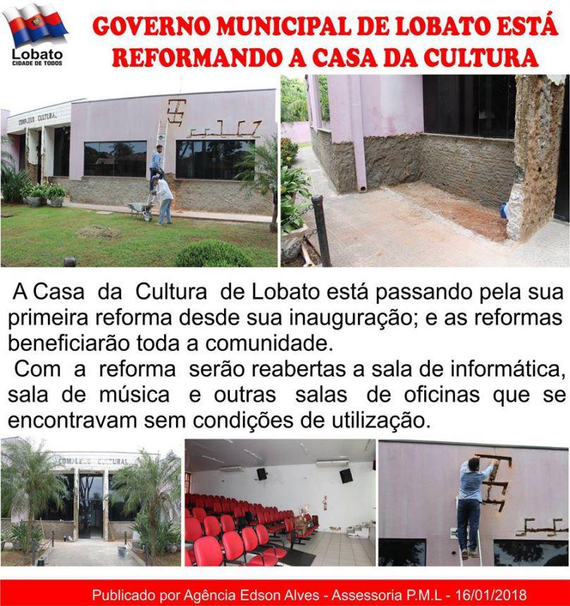 GOVERNO MUNICIPAL DE LOBATO ESTA REALIZANDO REFORMAS NO COMPLEXO CULTURAL
