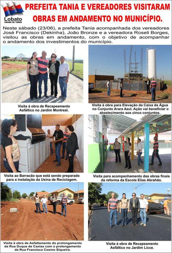 PREFEITA TANIA E VEREADORES VISITARAM OBRAS EM ANDAMENTO NO MUNICÍPIO