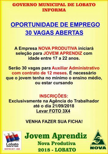 OPORTUNIDADE DE EMPREGO 30 VAGAS ABERTAS
