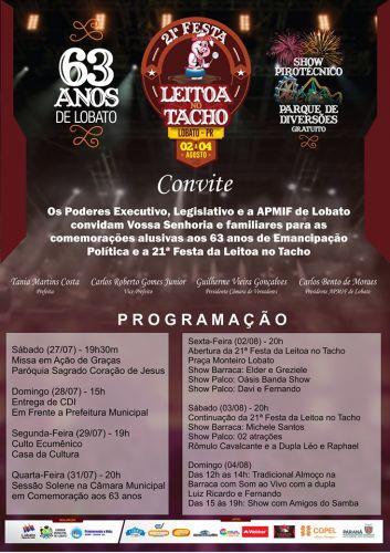 21º EDIÇÃO DA FESTA DA LEITOA NO TACHO