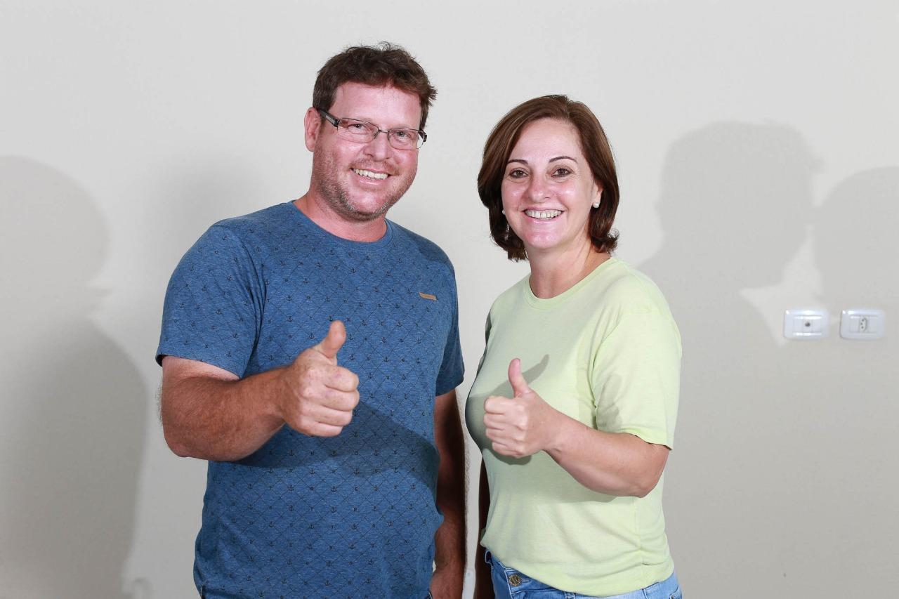 Victor Martini e Kátia Feltrin, prefeito e vice-prefeita de Marialva para a Gestão 2021/2024