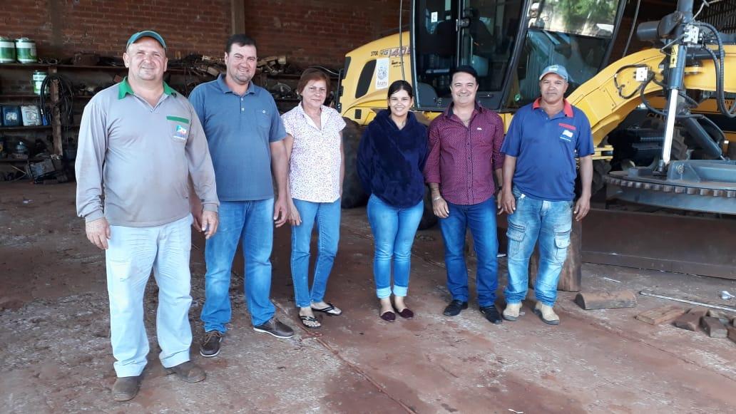 Grupo de Vereadores acompanham os trabalhos do Depto. RODOVIÁRIO