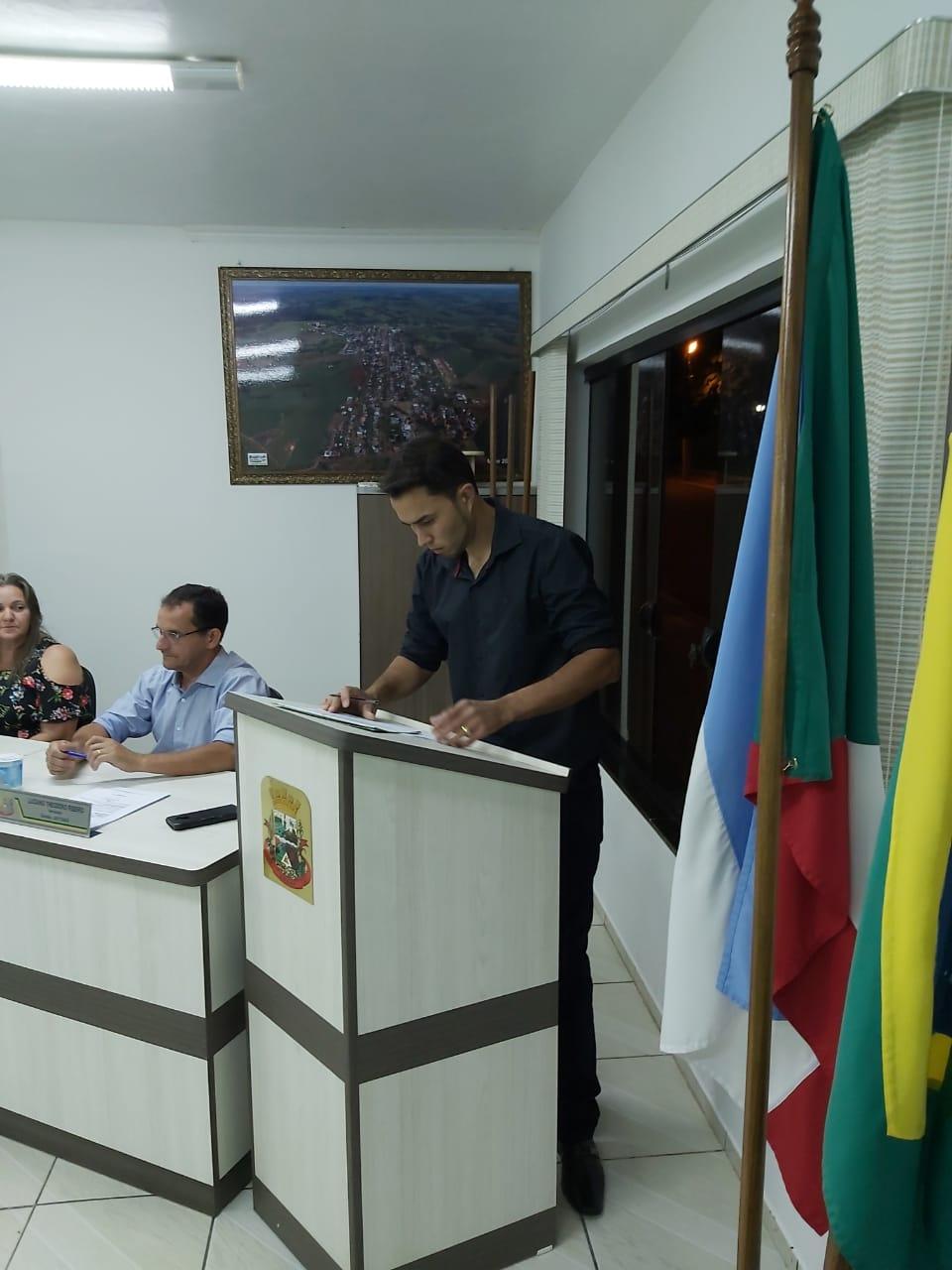 Suplente assume vaga na Câmara Municipal de Anahy.