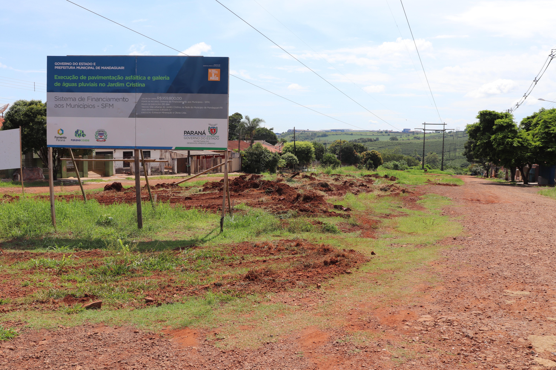Obras de pavimentação e galeria de águas pluviais contam com recursos devolvidos pela Câmara