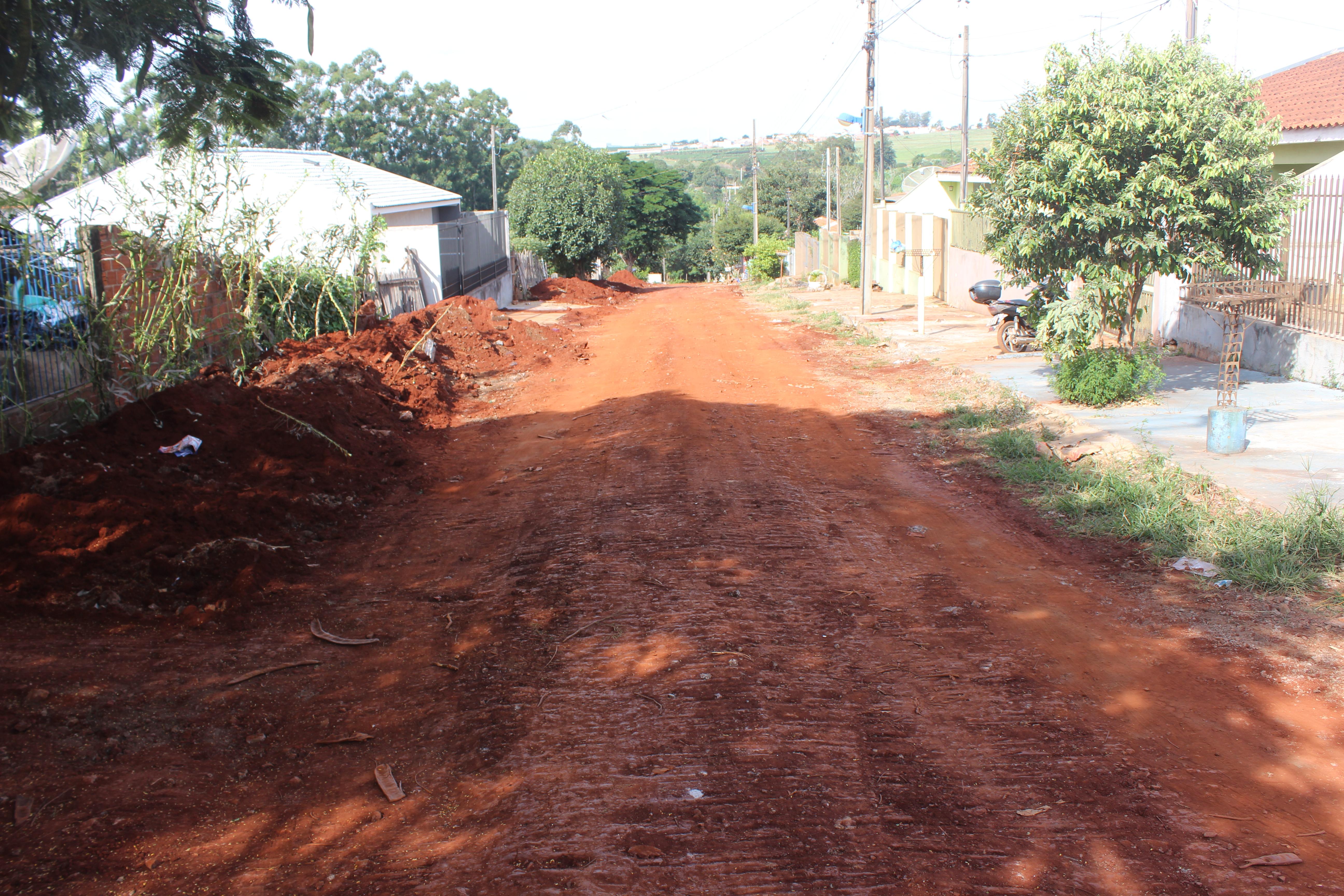 Ruas do Jardim Cristina receberão pavimentação.