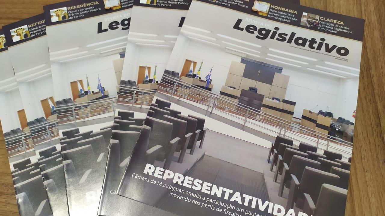 Material gráfico contém 12 páginas com o resumo das atividades funcionais e parlamentares de 2019