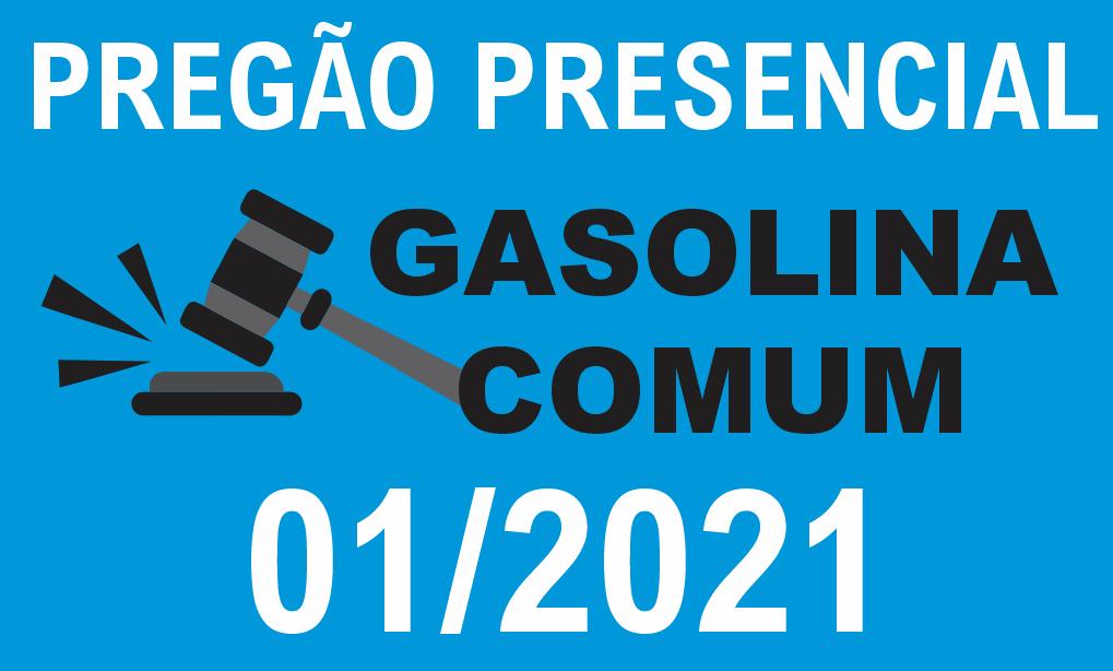 PREGÃO PRESENCIAL PARA COMPRA DE COMBUSTÍVEL (GASOLINA COMUM)