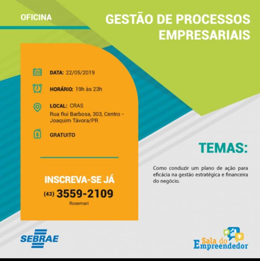 SALA DO EMPREENDEDOR DE JOAQUIM TÁVORA DIVULGA PROGRAMAÇÃO DA SEMANA DO MICROEMPREENDEDOR INDIVIDUAL