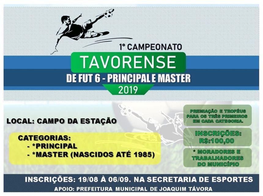 ABERTAS INSCRIÇÕES PARA CAMPEONATO DE FUTEBOL SOCIETY EM JOAQUIM TÁVORA
