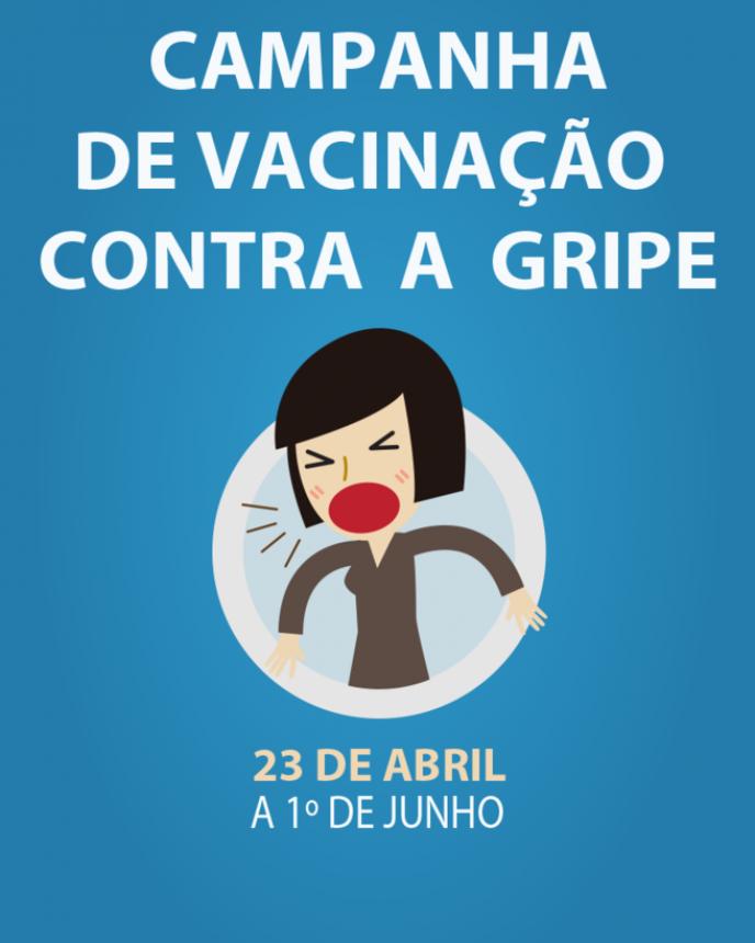 Campanha de Vacinação Contra Gripe Começa Hoje em todo o Estado