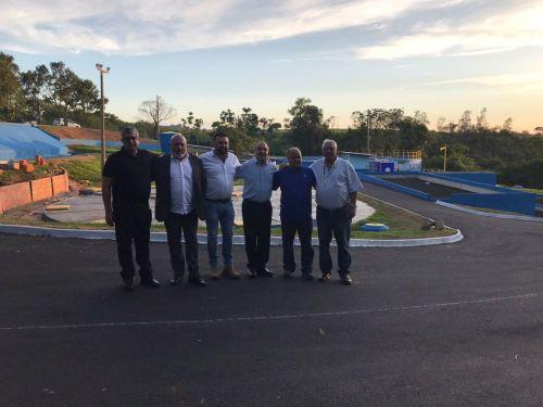 Visita do Presidente da Sanepar Mounir a nova Estação de Tratamento de Esgoto de Joaquim Távora