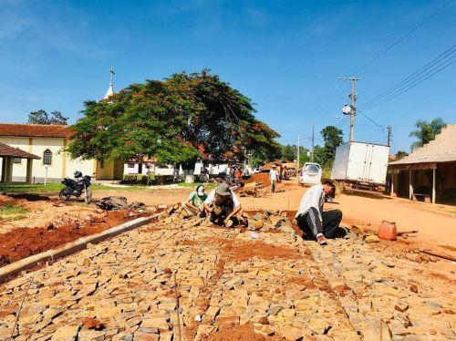 Calçamento Estrada Principal do Bairro do Cruzeiro