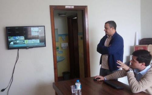 DELEGADO E PRESIDENTE DE CONSELHO DE SEGURANÇA DE RIBEIRÃO DO PINHAL, VISITAM JOAQUIM TÁVORA E CONHECEM SISTEMA DE MONITORAMENTO DE CÂMERAS