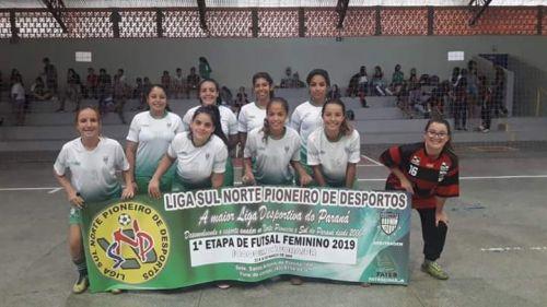 LIGA DE FUTSAL FEMININO MOVIMENTA JOAQUIM TÁVORA NO ÚLTIMO FINAL DE SEMANA