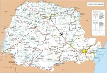Mapa Rodoviário do Estado do Paraná