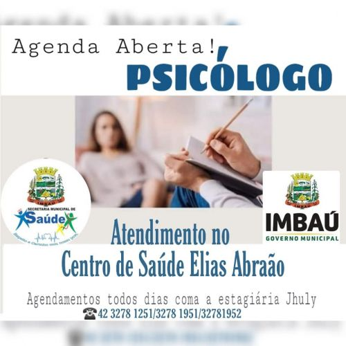 Atendimento de Psicólogo em Imbaú