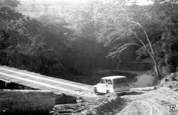 BR 376 Rodovia do Café - Imbaú - Ponte sobre o Rio Charqueada - Década de 60
