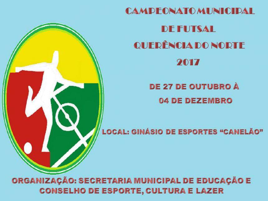 CAMPEONATO MUNICIPAL DE FUTSAL 2017