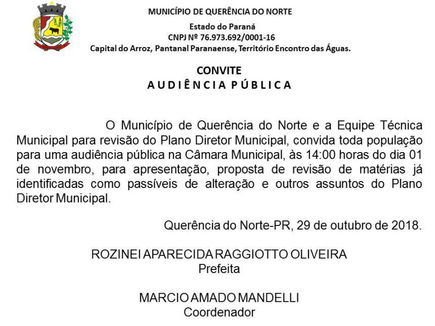 AUDIÊNCIA PÚBLICA PLANO DIRETOR