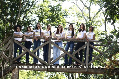 CANDIDATAS A RAINHA DA 36ª FESTA DO ARROZ - 2017