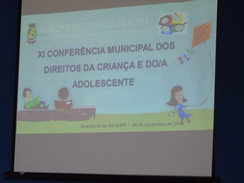 XI CONFERÊNCIA MUNICIPAL DOS DIREITOS DA CRIANÇA E DO ADOLESCENTE