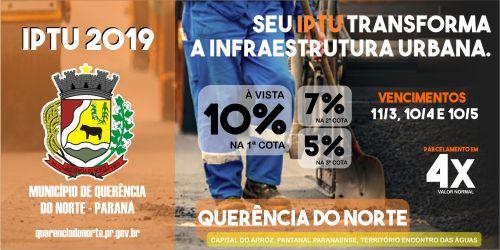 PREFEITURA DE QUERÊNCIA DO NORTE REALIZA ENTREGA DOS CARNÊS DE IPTU 2019