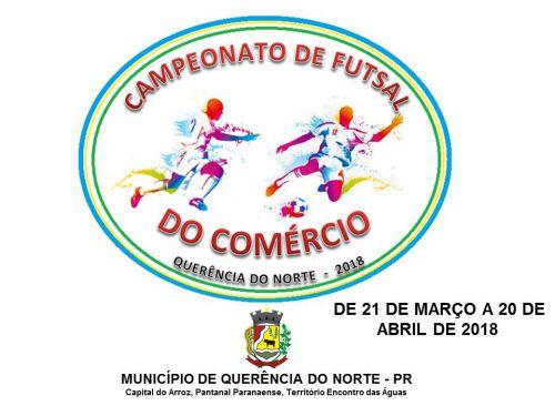 CAMPEONATO DE FUTSAL DO COMÉRCIO - 2018