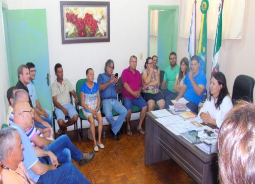 Visita do Deputado Romanelli para firmar parceria com o Município