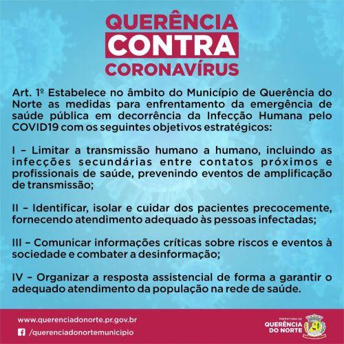 Querência contra Corona Vírus