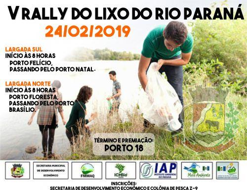 V RALLY DO LIXO DO RIO PARANÁ