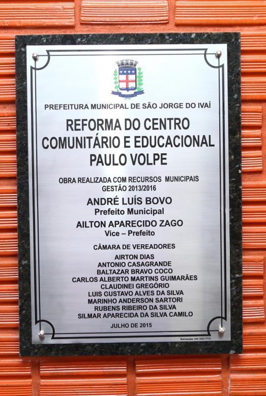 Reforma do Centro Comunitário e Educacional Paulo Volpe