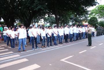 Entrega de CDI (Certificado de Dispensa de Incorporação) - Junta de Serviço Militar 028 (São Jorge do Ivaí - PR).