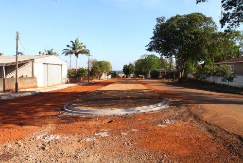 Pavimentação asfáltica com concreto no Distrito Copacabana do Norte.
